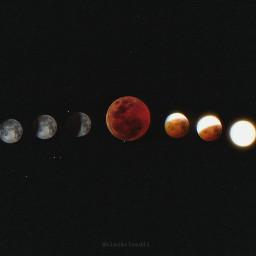 eclipse glitch mooneclipse madewithpicsart madebyme