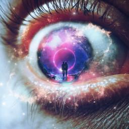 freetoedit eye galaxy stars eclipse