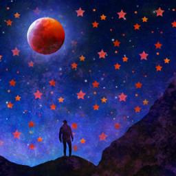 freetoedit splattermask galaxybrush bloodmoon