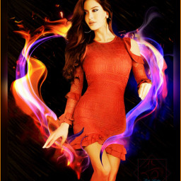freetoedit hot women fire red