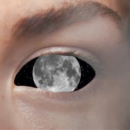 eye moon girl poland freetoedit