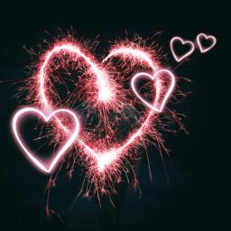neonhearts hearts love freetoedit