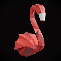 flamingo polygonart