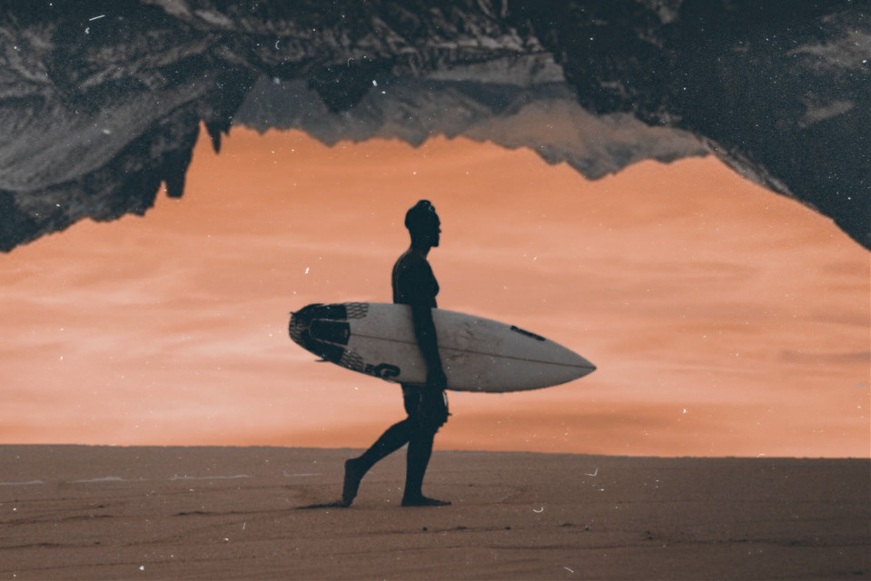 mountain set  in collaboration with the Cutest Pie #freetoedit #remixit #sun #sunset #beach #surfer #man #boy #mountains #snow