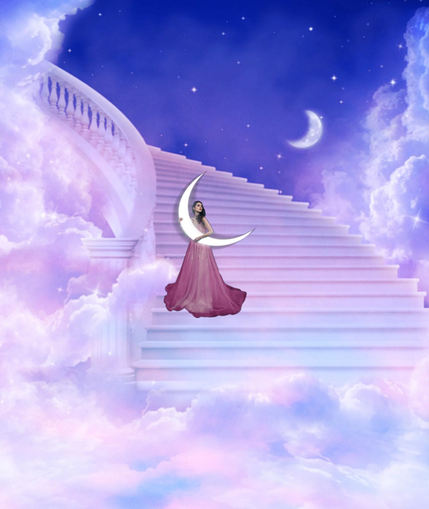 Лестница в небо открытки