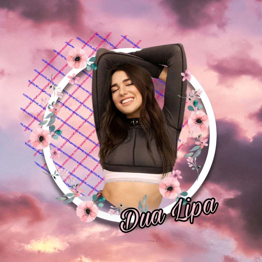 #freetoedit #dualipa #singer #music #clouds #flowers #picsartedit