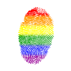 gay fingerprint lgbt rainbow freetoedit