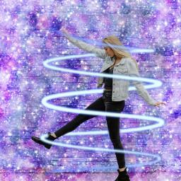 freetoedit girl sparkel glitter universe