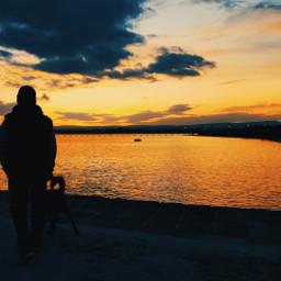 freetoedit pcthegoldenhour thegoldenhour sunset sea