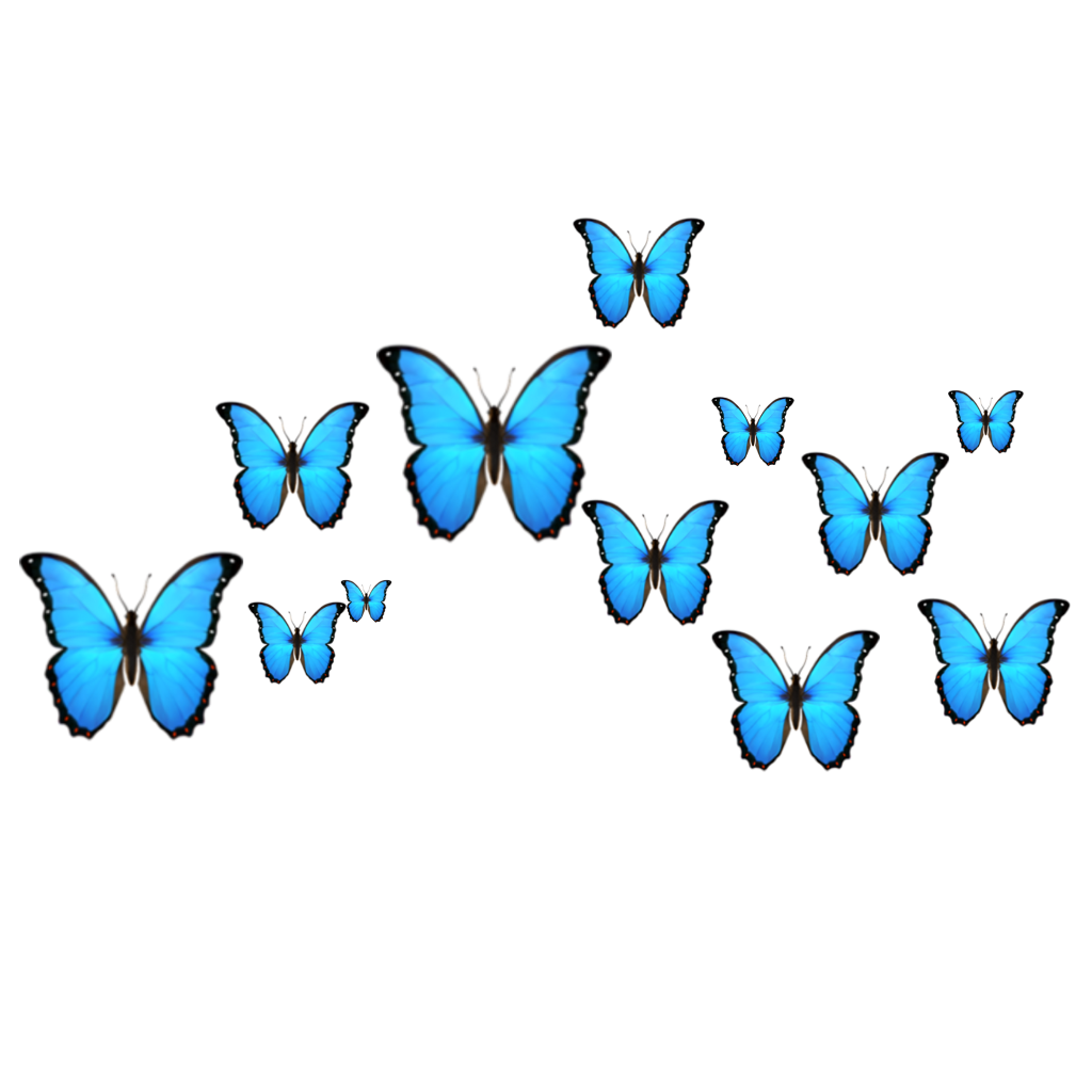 Download Blue Butterfly Emoji Png | PNG & GIF BASE