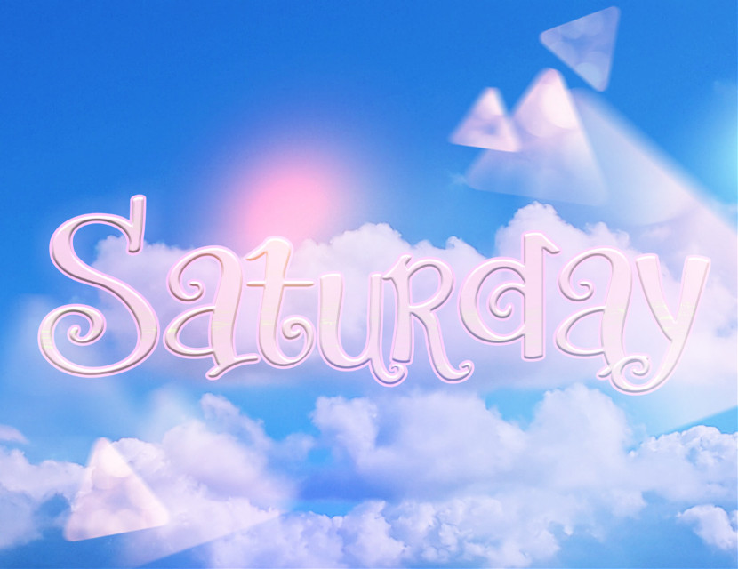 Happy Saturday ❤️   #happysaturday #saturday #quoteoftheday  #happyday #sky #clouds #text #glitter  #freetoedit