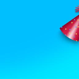 background party colorful birthday redandblue freetoedit