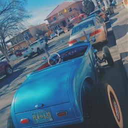 automobile car vintage classic blue