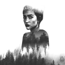 freetoedit woman doubleexposure forest forestgirl