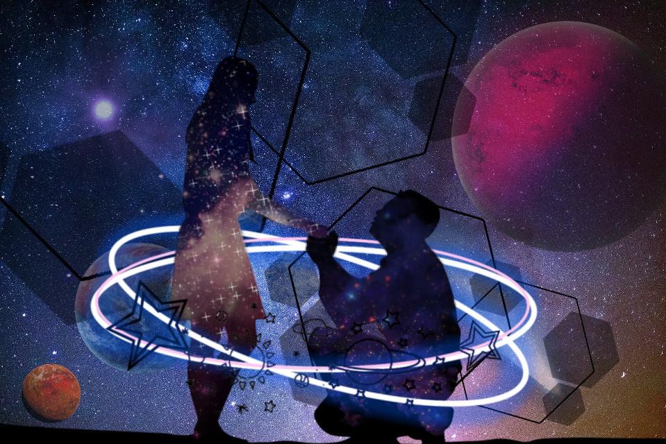 #freetoedit #love #stars #galaxy #marrige #couple #planet #cosmos #magic #intergalactic #propose #❤️