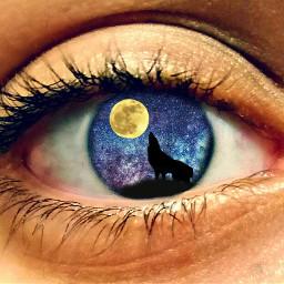 freetoedit eye emoji colouful galaxy