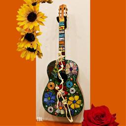 guitar freetoedit diadelosmuertos frida unibrow_queen