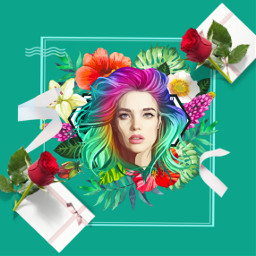 freetoedit stickeremix flowerpower