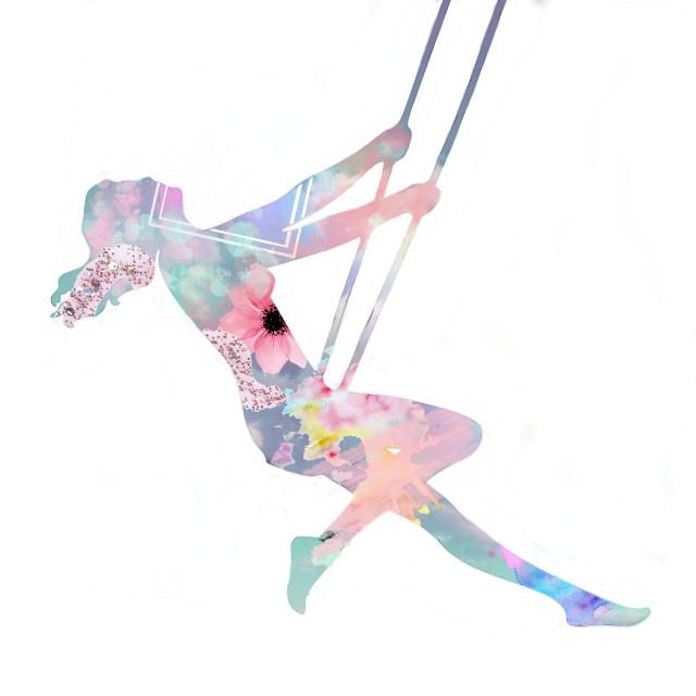 #freetoedit #swing #pastel #pastelgirl #pastelpaint #paint #happiness #freedom #girl #girlonaswing #girlonswing