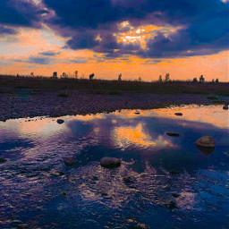 sunset sunrise marsh swamp colourfulsky