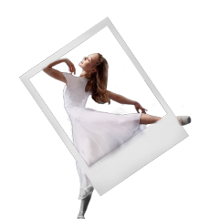 ballett polaroid schwarzwei freetoedit