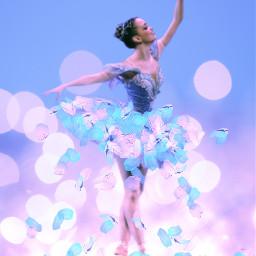 freetoedit dancer ballerina pastelpaintbrush paintparty