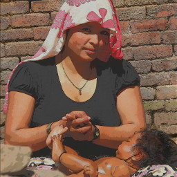 mum baby massage myphotography nepal