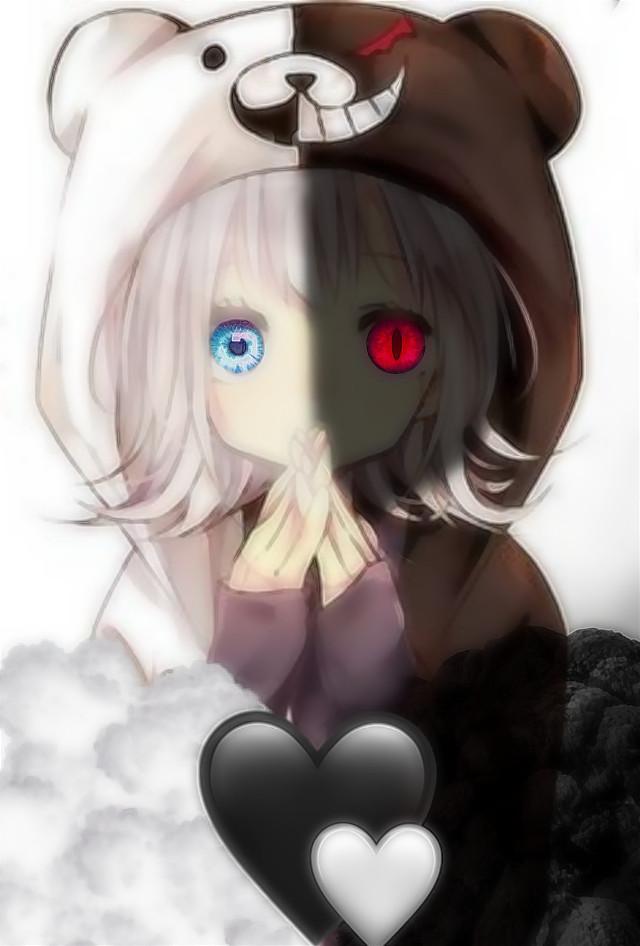 #anime#lol#black#white#heart