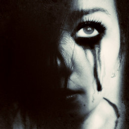 myedit myphotography dark tears girl freetoedit