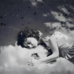 freetoedit doubleexposure sleepingbeauty interesting dreaming