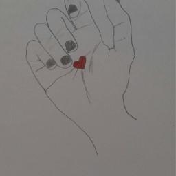 freetoedit mydraw love heart hand