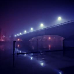 freetoedit cyberpunk cyberghetto bridge night