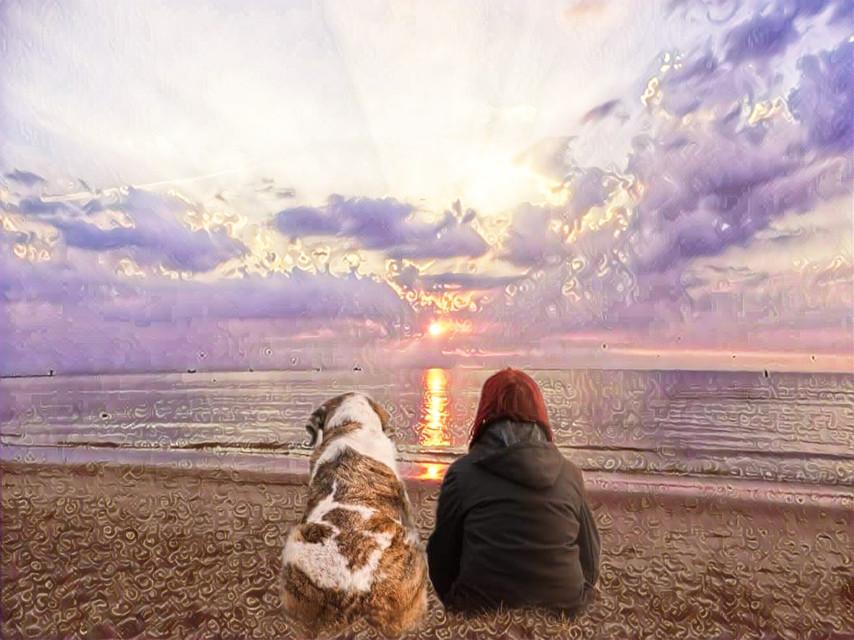 #freetoedit #beach #sunset #rosegoldmagiceffect screen #myoriginalphoto #myedit