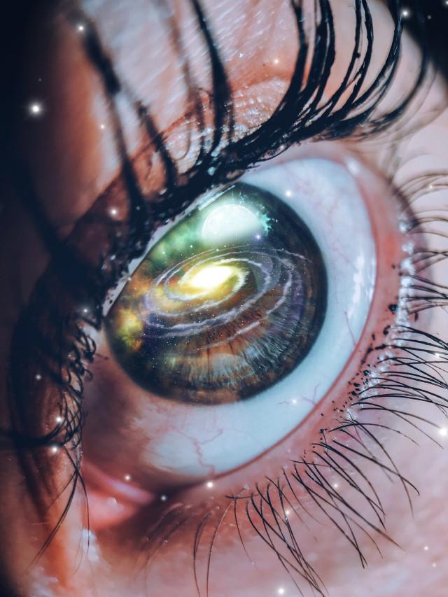 #freetoedit #eye #galaxy #surreal #picsart #stars #light #glare #moon #pupil #closeup #madewithpicsart #lashes #galaxy