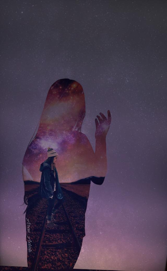 #freetoedit @pa @freetoedit #doubleexposure #picsart #be_creative #surreal #galaxy #people