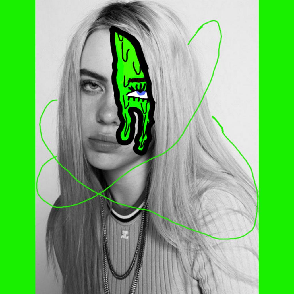 #fanedit #billieeilish #green #neon #grimeart