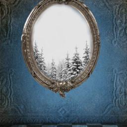 freetoedit spiegel winterwonderland winter wald ircwinterforest