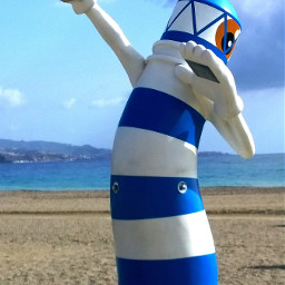 faro lighthouse malaga spain beach pcbeachtime pcblueandwhite pcstatue statue