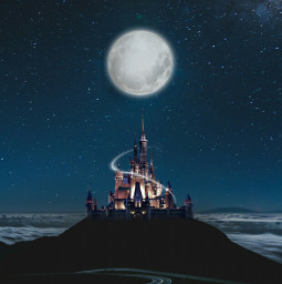 freetoedit castle night moon palace