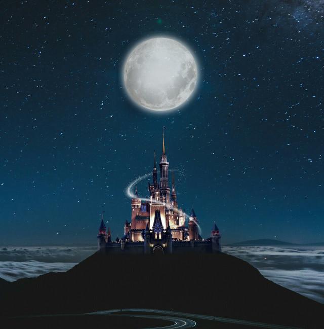 @picsart#castle#night#moon#Palace#street#dark#light