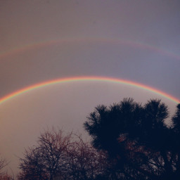 sky rainbow weather colourful freetoedit