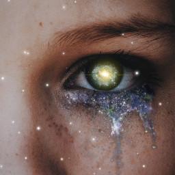 freetoedit eye mascara galaxy surreal