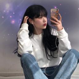 freetoedit girl korea koreangirl space