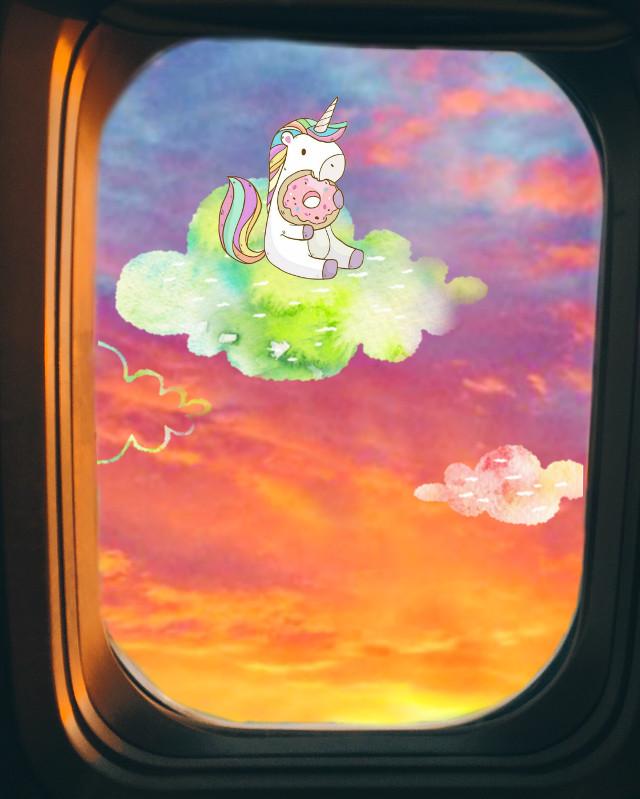 #skyandclouds #unicorn #5minuteedit #freetoedit  #ircfaketravel #faketravel