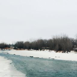 minimalism winterscape landscape picsart photography
