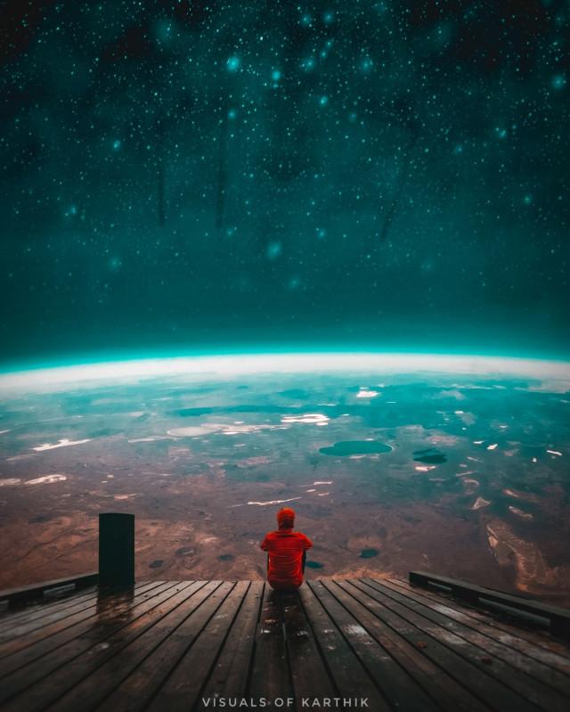 Happy weekend everyone   #Madewithpicsart #madebyme #MyEdit #PicsArt  #Instagram 👉🏻 @imkarthik1997   #Art #artist #Photo #surreal #surrealism #surrealistic #travel #Space #Galaxy #sitting #male