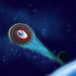 paiting color space spaceship stars dcspaceship