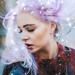 freetoedit galaxyhair starbrush galaxybrush doubleexposure