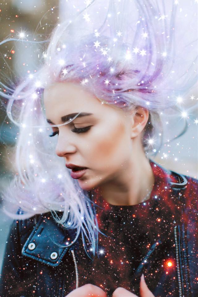 #galaxyhair #starbrush #galaxybrush #doubleexposure #freetoedit