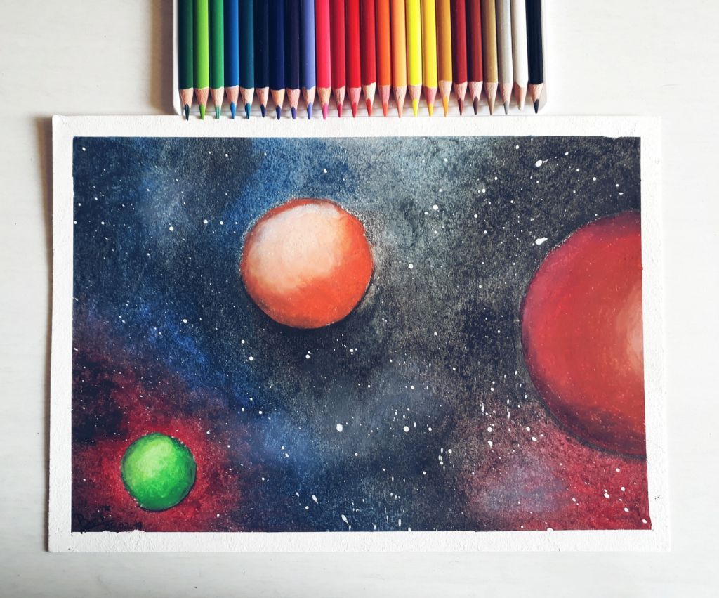 #freetoedit #drawing #handdrawing #pencils #colorful #planets #space #dodgereffect